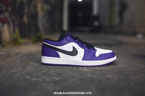 NIKE AIR JORDAN 1 LOW 'COURT PURPLE WHITE'