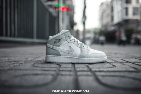 NIKE AIR JORDAN 1 MID SE 'GREY CAMO'