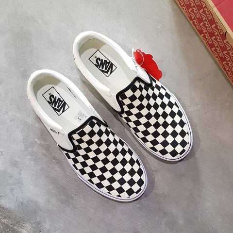 VANS ASHER SLIP ON 'CHECKERBOARDS'