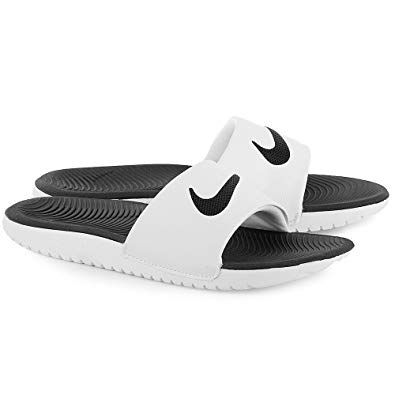 NIKE KAWA SLIDE 'BLACK WHITE'