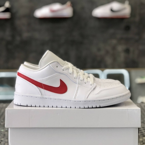 NIKE WMNS AIR JORDAN 1 LOW 'WHITE UNIVERSITY RED'