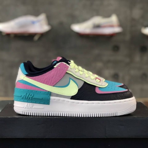 NIKE AIR FORCE 1 SHADOW 'BARELY VOLT ORACLE AQUA'