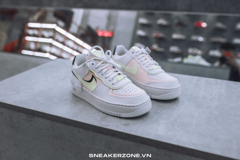 NIKE AIR FORCE 1 SHADOW 'SUMMIT WHITE BARELY VOLT CRIMSON TINT'