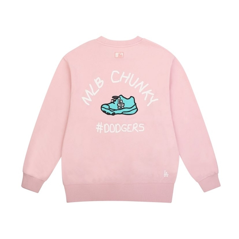 MLB Sweater Chunky LA Pink