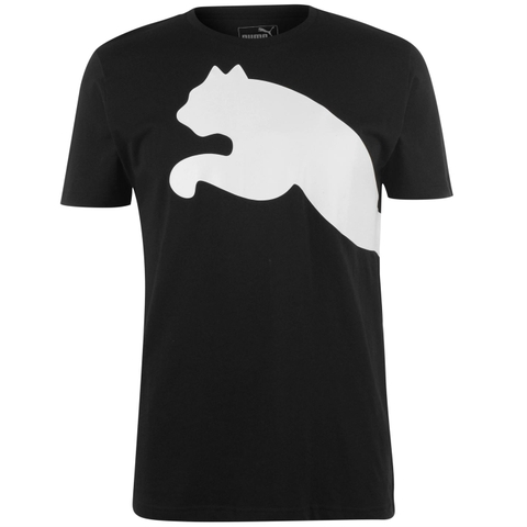 Puma Áo Basic Logo Black White (form Âu)