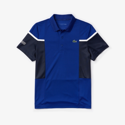 Lacoste Polo SPORT Mesh Panel Tennis Navy