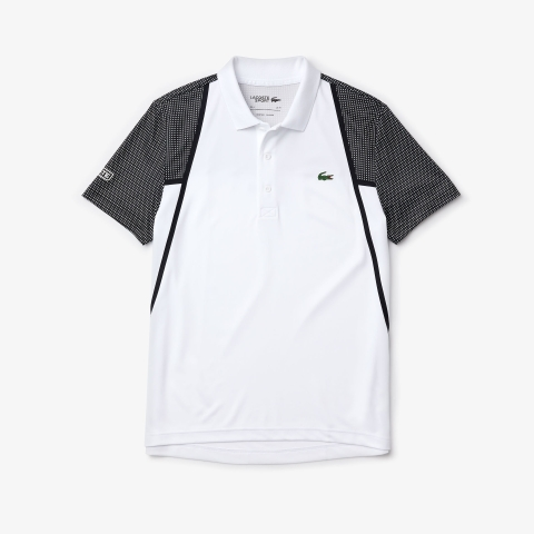 Lacoste Polo SPORT Mesh Sleeved Tennis White 4ZS