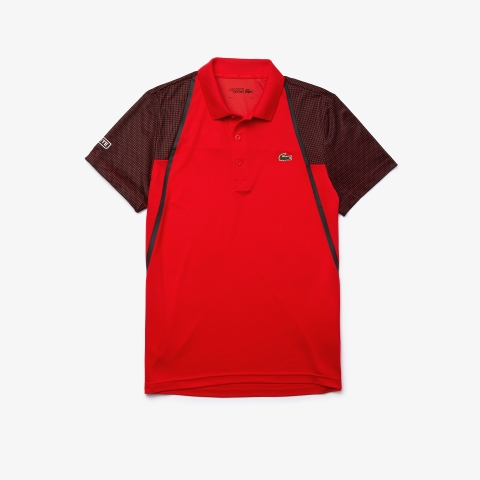 Lacoste Polo SPORT Mesh Sleeved Tennis Red GCR