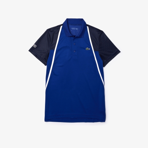 Lacoste Polo SPORT Mesh Sleeved Tennis Blue