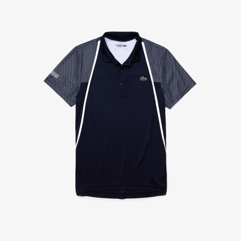 Lacoste Polo SPORT Mesh Sleeved Tennis Navy