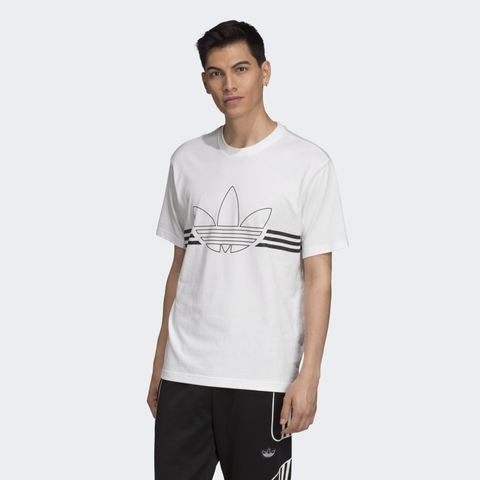 Adidas Áo Outline White (form Âu)