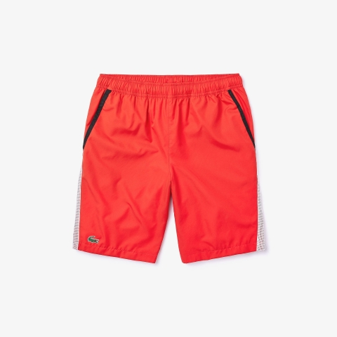 Lacoste Short SPORT Contrast Bands Red
