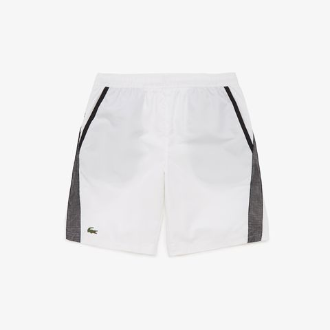 Lacoste Short SPORT Contrast Bands White