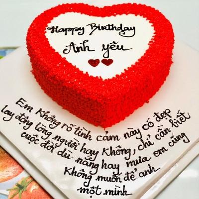 Anh yêu - bánh sinh nhật tặng bạn trai