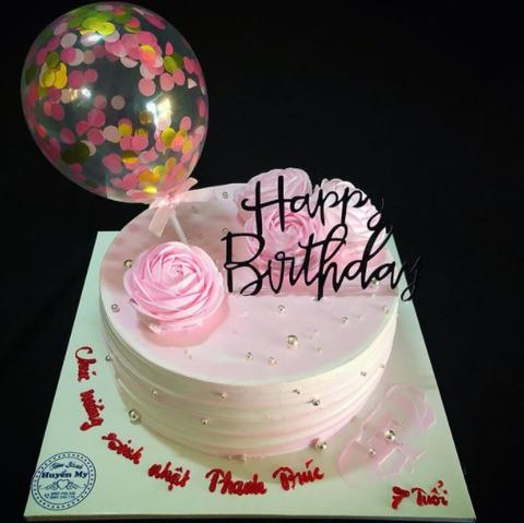 BB10 - Bánh kem bong bóng happy Birthday