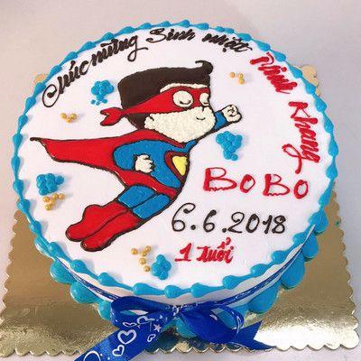 Superman đến rồi - bánh kem bé trai