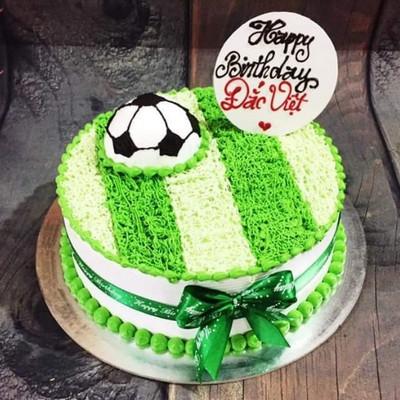 Bóng đá & Sân cỏ - bánh sinh nhật bé trai