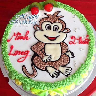 BNG1 - bánh kem tuổi khỉ cho bé