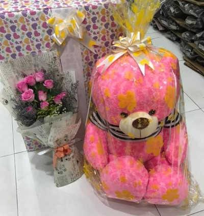 GB13 Gấu bông Teddy hồng