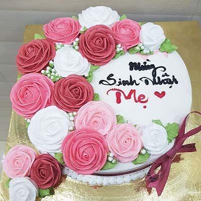 M1 - Bánh sinh nhật hoa hồng dành tặng mẹ