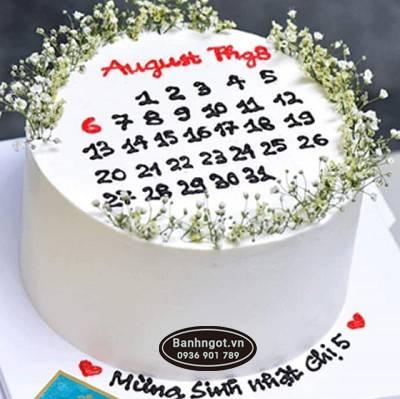 PN37- bánh kem tờ lịch