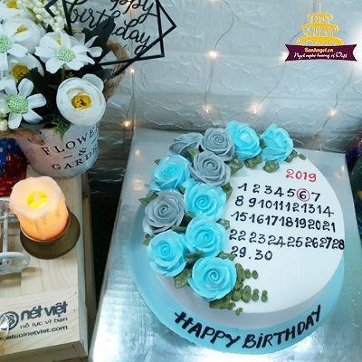 S19 bánh kem cuốn lịch xanh