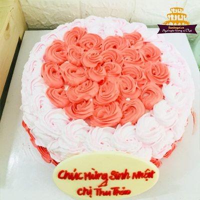S54 bánh kem hoa hồng