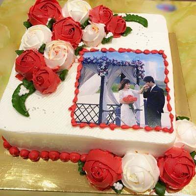 vl9 bánh kem in ảnh cưới