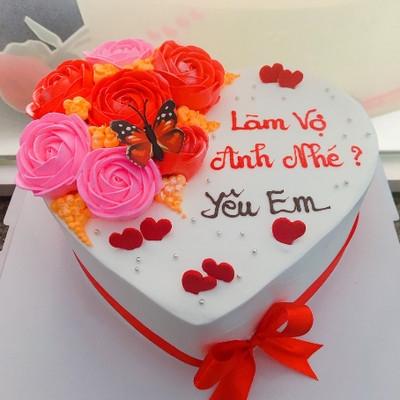 Yêu em - bánh sinh nhật tặng vợ yêu