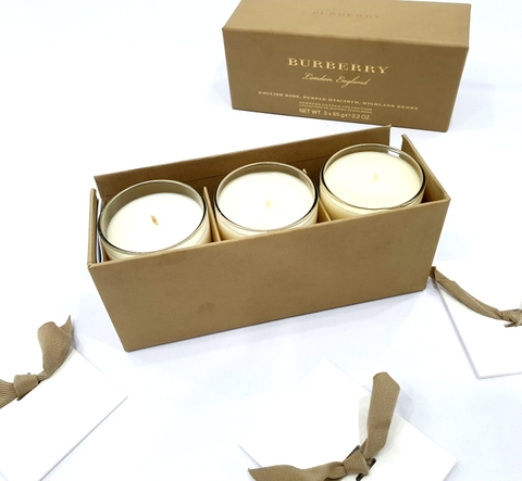 Burberry Scented Candles SET 3 X 65G