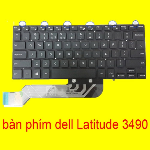 ban phim laptop dell Latitude 3490