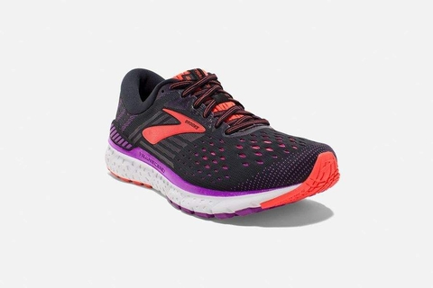 Brooks Transcend 6 Women - Black/Purple/Coral