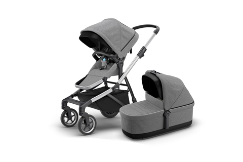 Thule Sleek + Thule Sleek Bassinet-Grey Melange