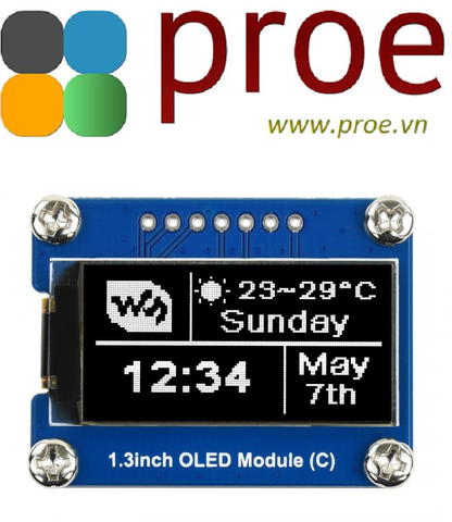 1.3inch OLED Module (C) 64×128, General 1.3inch OLED Display Module