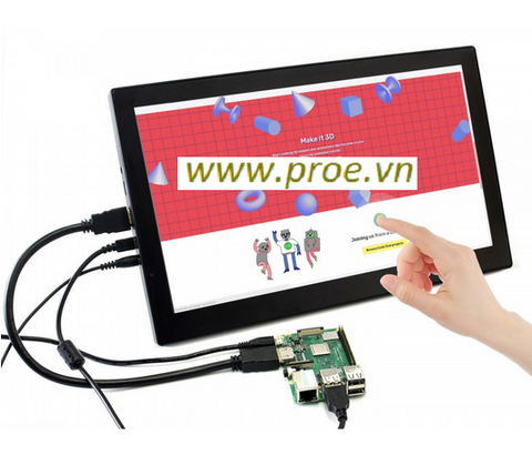 13.3inch HDMI LCD (H) (with case) V2, 1920x1080, IPS