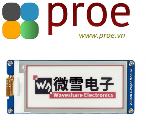 2.9inch e-Paper Module (B) 296x128, 2.9inch E-Ink display module, three-color