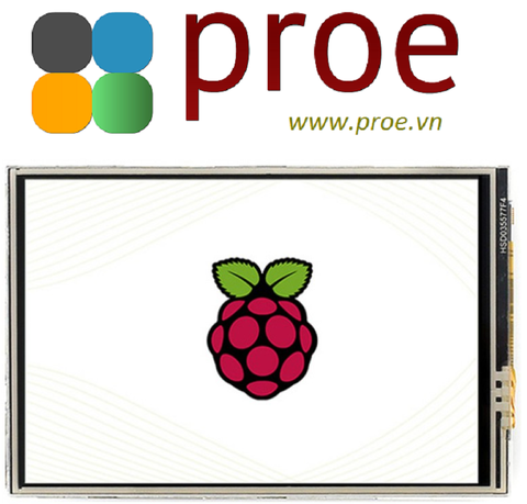 3.5inch Resistive Touch Display (C) for Raspberry Pi, 480×320, 125MHz High-Speed SPI