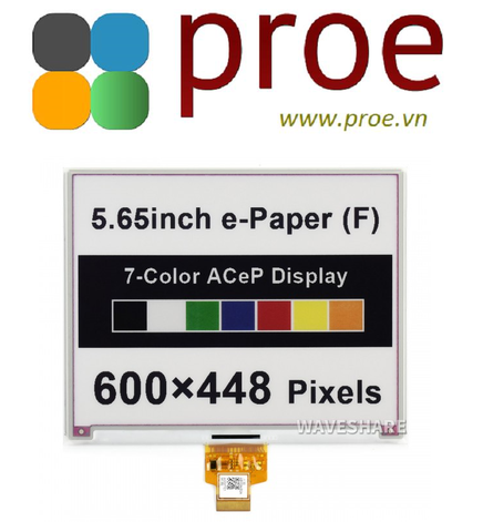 5.65inch ACeP 7-Color E-Paper E-Ink Raw Display, 600×448, Without PCB