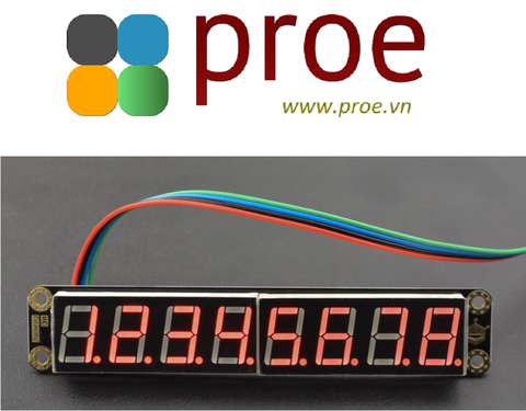 8-Digital LED Segment Display Module (Red)