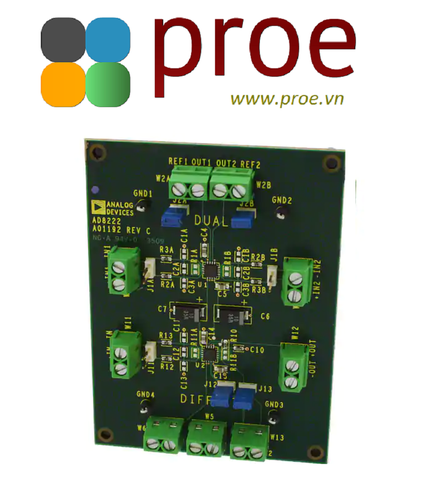 AD8222-EVALZ AD8222 2 - Dual Channels per IC Instrumentation Amplifier Evaluation Board