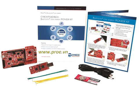 CY8CKIT-042-BLE-A Bluetooth Low Energy 4.2 Compliant Pioneer Kit