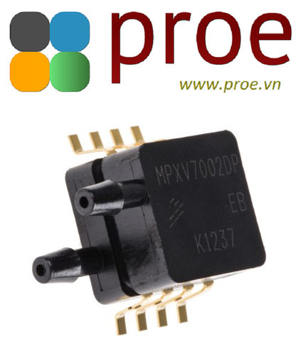 MPXV7002DP Pressure Sensor 0.5V to 4.5V -2kPa to 2kPa Differential 8-Pin SNSR Tray