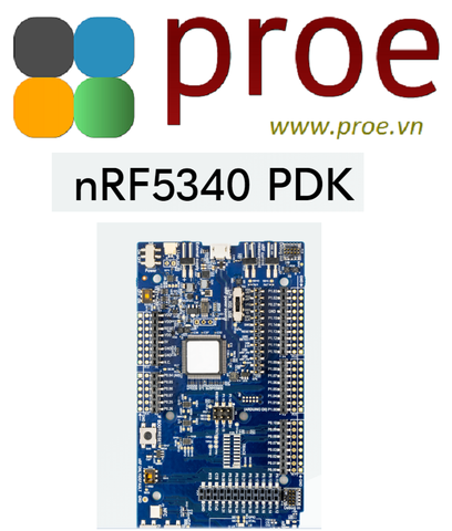 nRF5340 PDK Preview development kit for the nRF5340, a dual processor SoC supporting Bluetooth 5.1, Bluetooth mesh, NFC, Thread & Zigbee