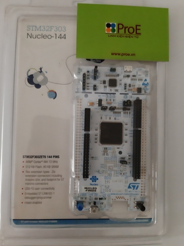 NUCLEO-F303ZE STM32 Nucleo-144 development board with STM32F303ZE MCU, supports Arduino, ST Zio and morpho connectivity