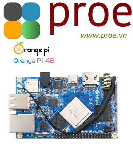 Orange Pi 4B  RK3399 4GB DDR4 16GB EMMC NPU