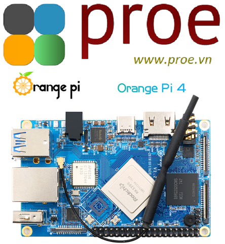 Orange Pi 4 RK3399 4GB DDR4 16GB EMMC