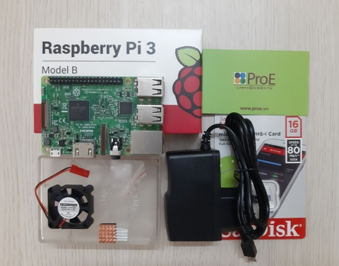 Combo Raspberry Pi 3 Made in UK
