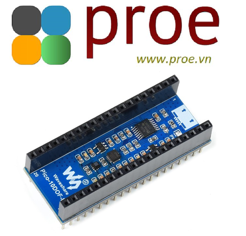 10-DOF IMU Sensor Module for Raspberry Pi Pico, Onboard ICM20948 and LPS22HB Chip