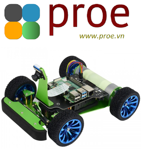 PiRacer AI Kit Acce PiRacer DonkeyCar, AI Racing Robot Powered by Raspberry Pi 4 (NOT included)