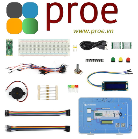 Raspberry Pi Pico Basic Kit, MicroPython Programming Learning Kit